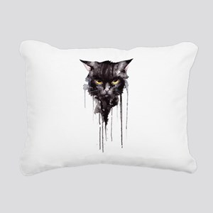 Angry cat T shirt Rectangular Canvas Pillow