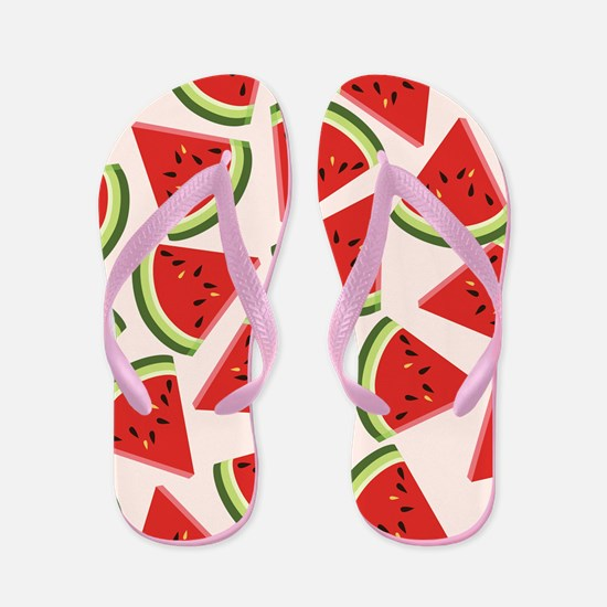 Watermelon Wedges Flip Flops