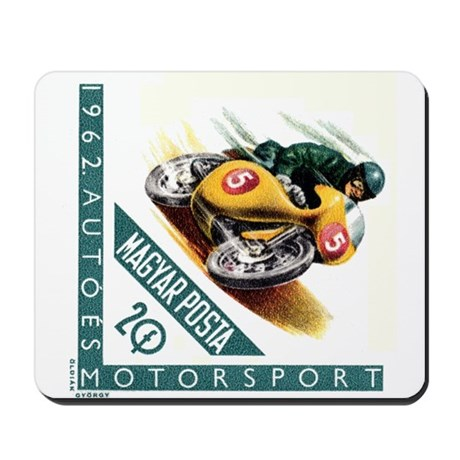 1962 Hungary Motorcycle Racing Postage Stamp Mouse
