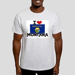 I HEART MONTANA FLAG T-Shirt