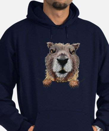 Yellow-bellied Marmot Hoodie (dark)