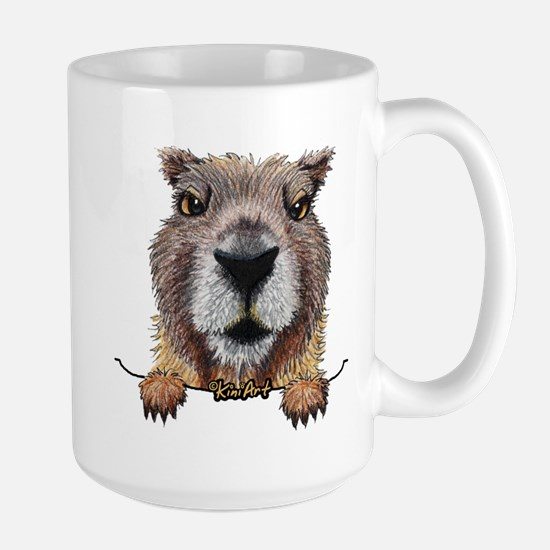 Yellow-bellied Marmot Large Mug