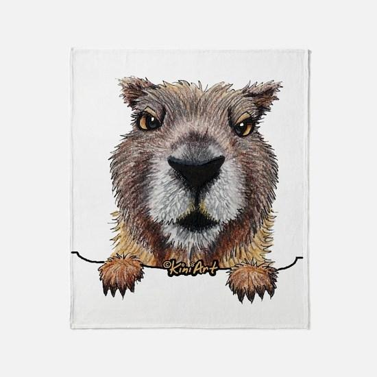 Yellow-bellied Marmot Throw Blanket