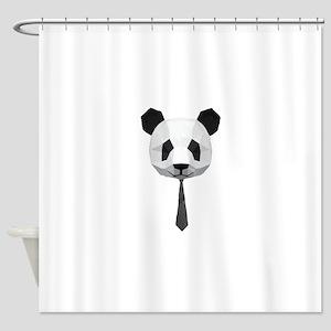 Office Panda T shirt Shower Curtain