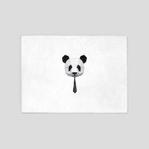 Office Panda T shirt 5'x7'Area Rug