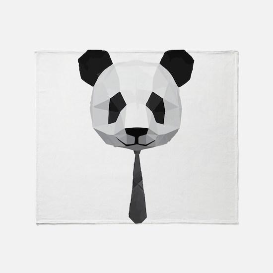 Office Panda T shirt Throw Blanket
