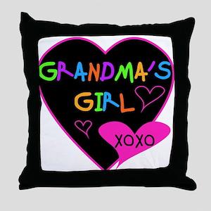 Heart Grandma's Girl Throw Pillow
