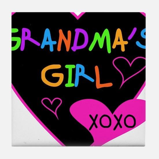 Heart Grandma's Girl Tile Coaster
