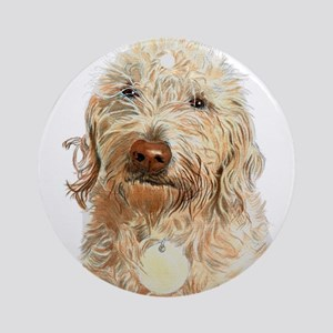 Labradoodle Ginger Round Ornament