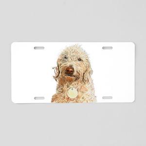 Labradoodle Ginger Aluminum License Plate