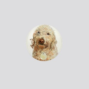 Labradoodle Ginger Mini Button