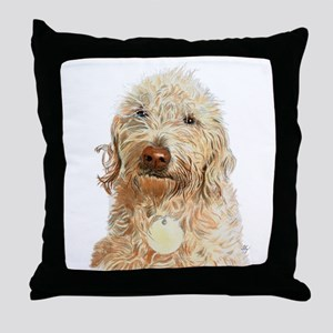 Labradoodle Ginger Throw Pillow