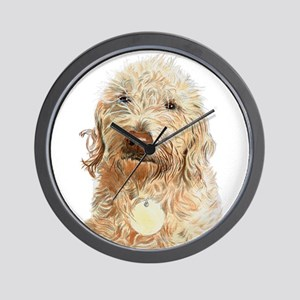 Labradoodle Ginger Wall Clock