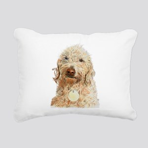 Labradoodle Ginger Rectangular Canvas Pillow
