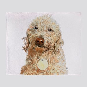 Labradoodle Ginger Throw Blanket