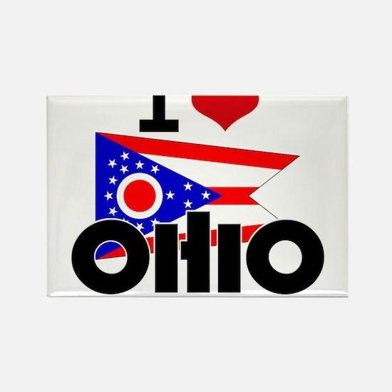 I HEART OHIO FLAG Rectangle Magnet