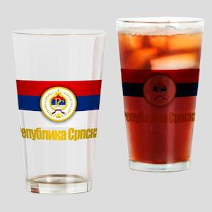 Srpska Flag Drinking Glass