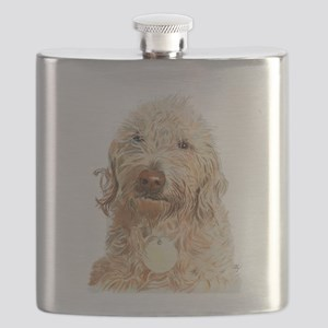Labradoodle Ginger Flask
