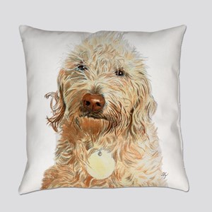 Labradoodle Ginger Everyday Pillow
