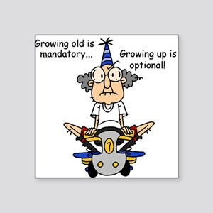 Funny Old People Growing Old Sticker