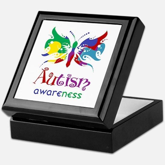 Autism Awareness Butterfly Keepsake Box