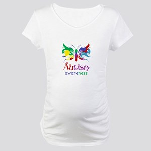 Autism Awareness Butterfly Maternity T-Shirt