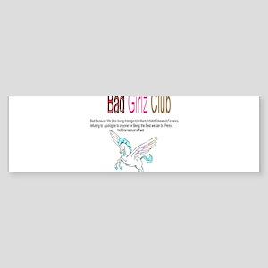 Bad Girlz Club Bumper Sticker