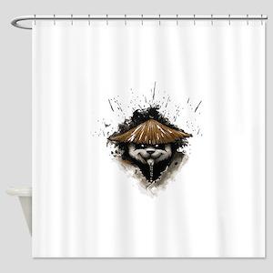 Warrior Panda T shirt Shower Curtain