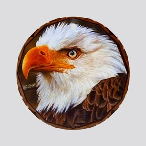 Geometric Bald Eagle Ornament (Round)