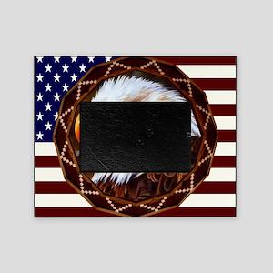 Geometric Bald Eagle Picture Frame