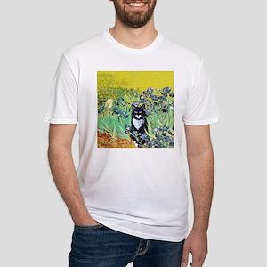 Irises & Cat Fitted T-Shirt