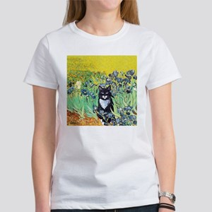 Irises & Cat Women's T-Shirt