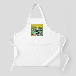 Irises & Cat BBQ Apron