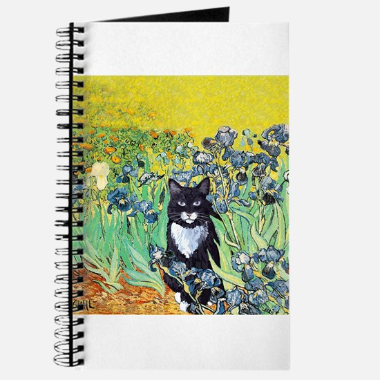Irises & Cat Journal