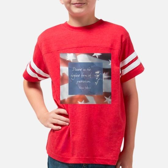dissentlargelight2 Youth Football Shirt