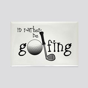 Id Rather Be Golfing Rectangle Magnet