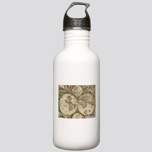 Antique Old World Map Water Bottle