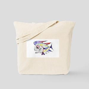 Mean Abstract Fish Tote Bag
