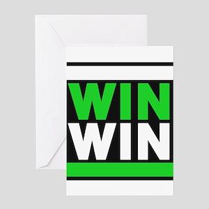 win win 2 green Greeting Card