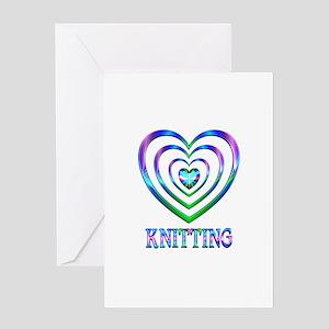 Knitting Hearts Greeting Card