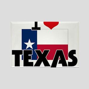 I HEART TEXAS FLAG Rectangle Magnet