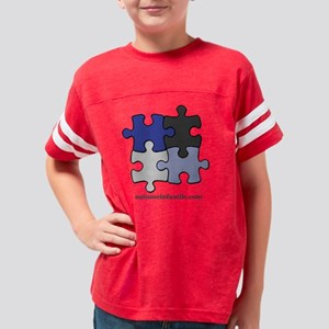 Puzzle Autisme Infantile Blue Youth Football Shirt