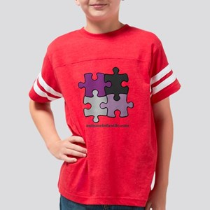 Puzzle Autisme Infantile Purp Youth Football Shirt