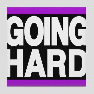 going hard purple Tile Coaster