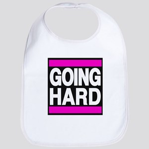 going hard pink Bib