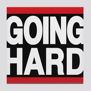 going hard red Tile Coaster