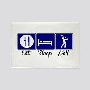 Eat, Sleep, Golf Rectangle Magnet