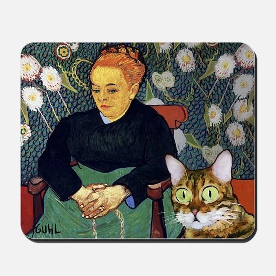Scaredy Cat_van Gogh parody Mousepad