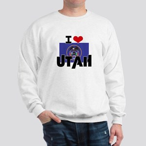 I HEART UTAH FLAG Sweatshirt