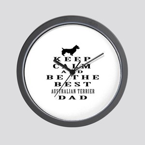 Keep Calm Australian Terrier Designs Wall Clock